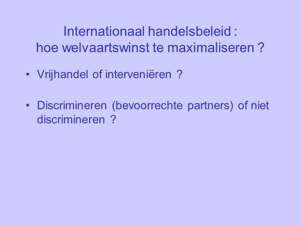 Internationaal handelsbeleid : hoe welvaartswinst te maximaliseren