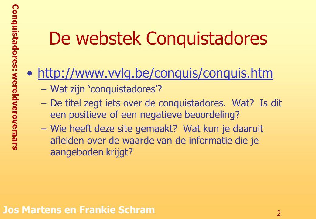 De webstek Conquistadores