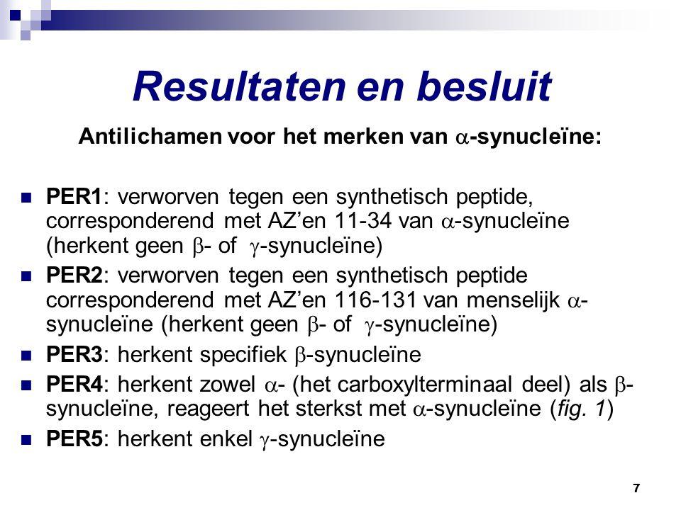 Antilichamen voor het merken van -synucleïne: