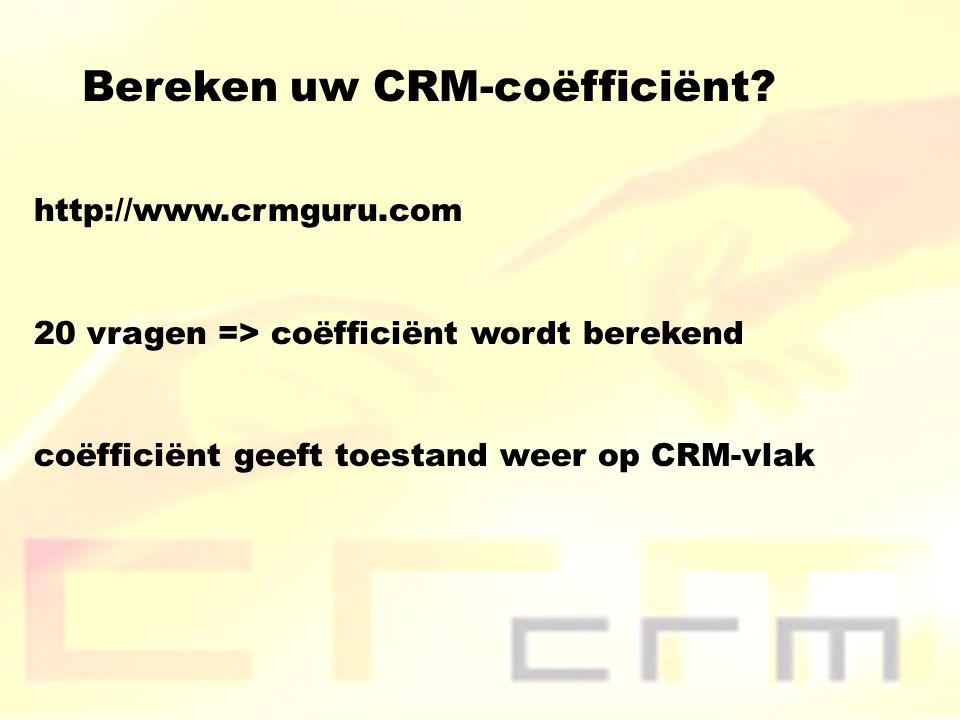 Bereken uw CRM-coëfficiënt