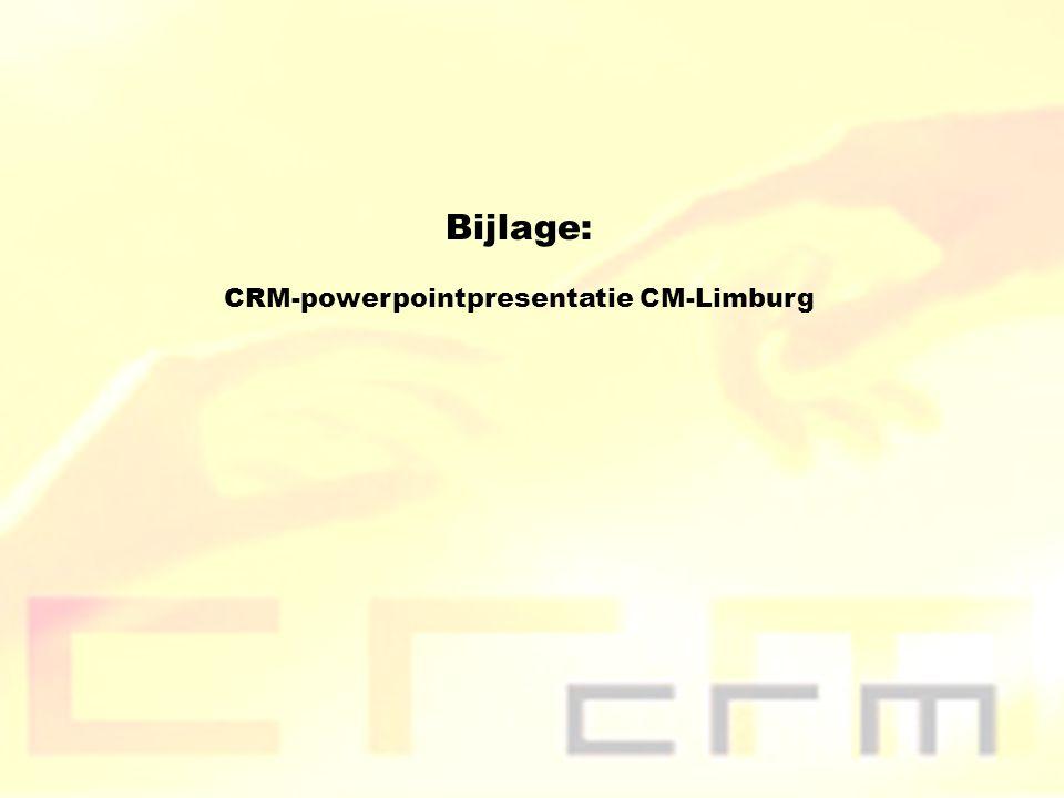 CRM-powerpointpresentatie CM-Limburg
