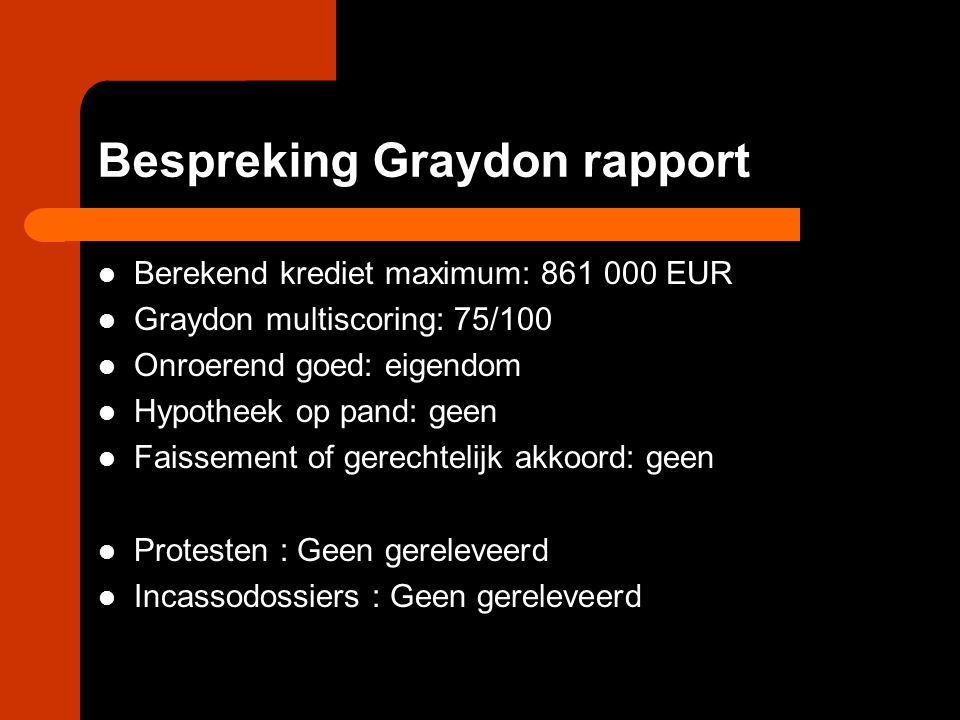 Bespreking Graydon rapport