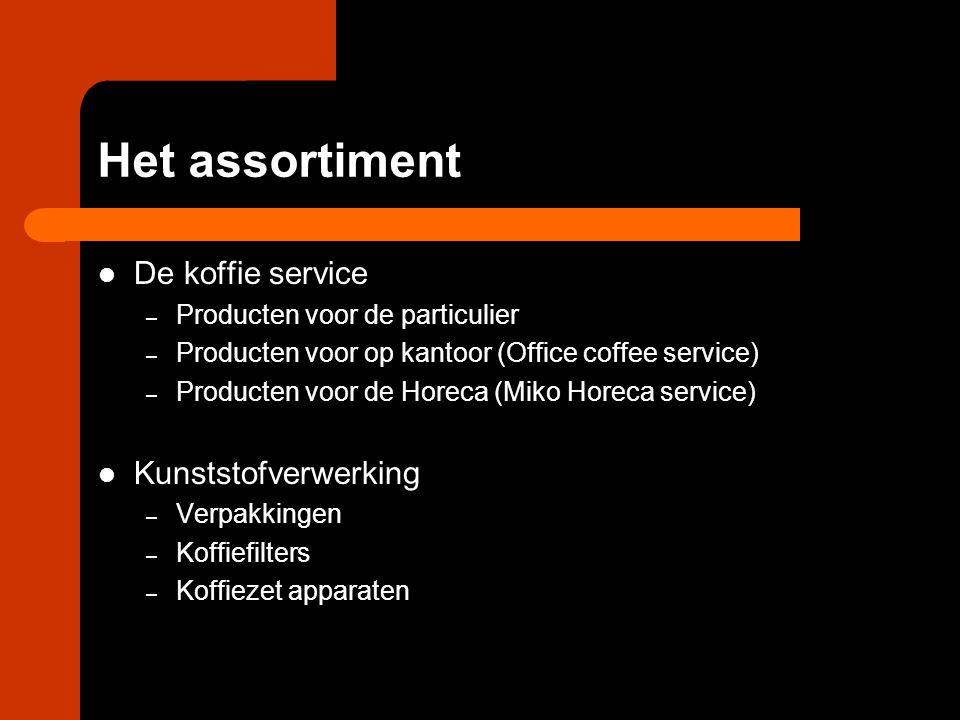 Het assortiment De koffie service Kunststofverwerking
