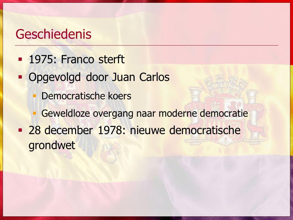 Geschiedenis 1975: Franco sterft Opgevolgd door Juan Carlos