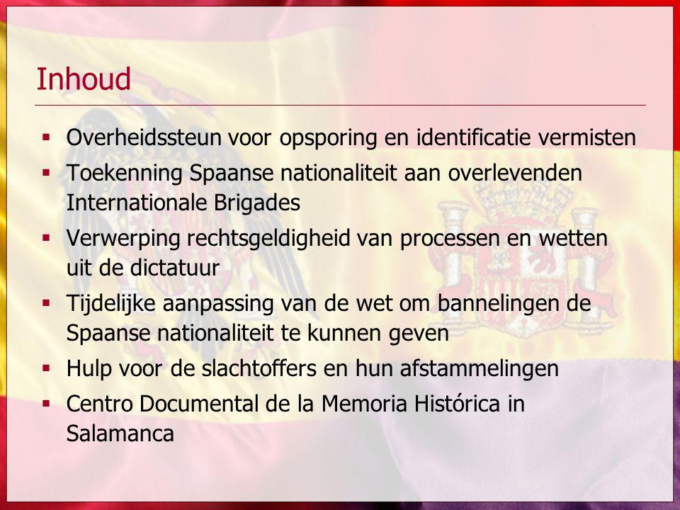 Inhoud Overheidssteun voor opsporing en identificatie vermisten