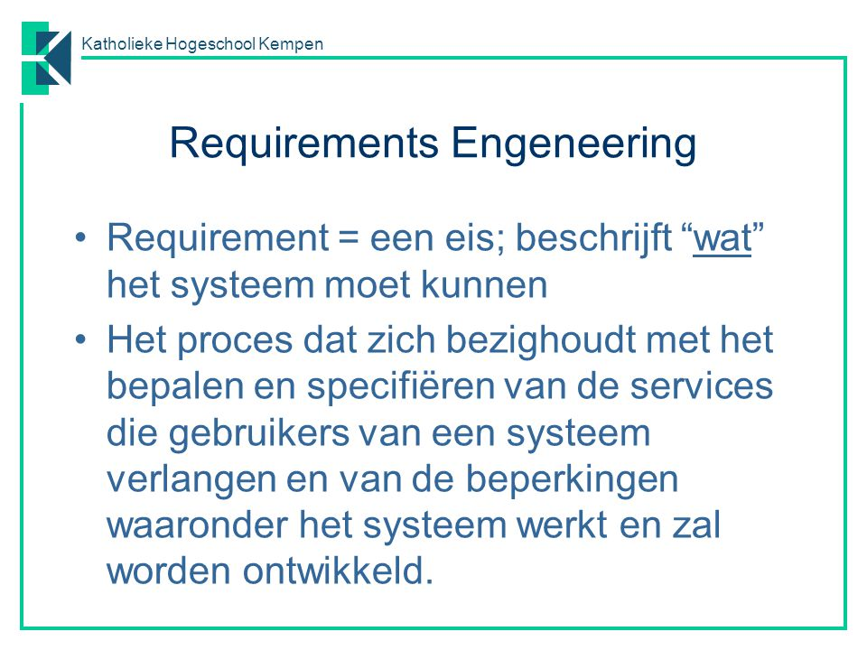 Requirements Engeneering
