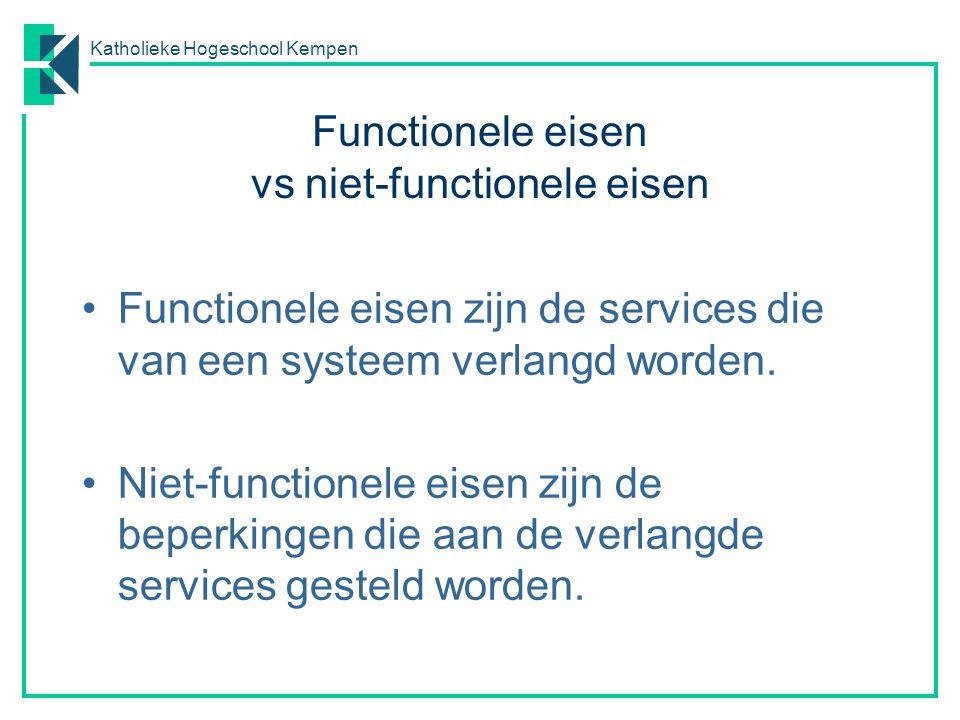 Functionele eisen vs niet-functionele eisen