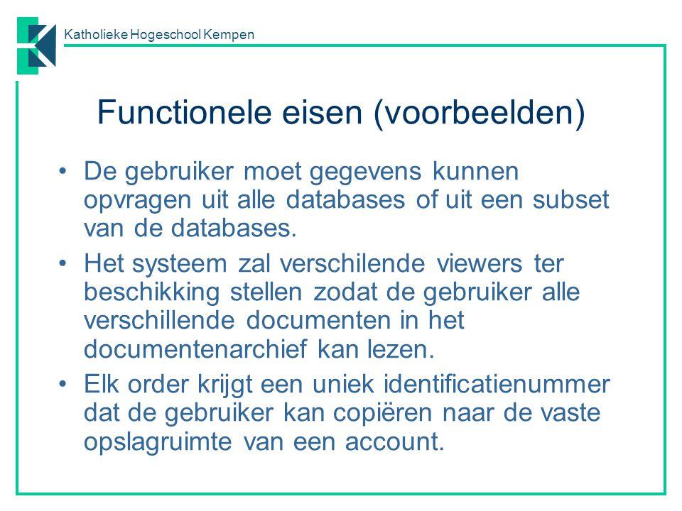 Functionele eisen (voorbeelden)