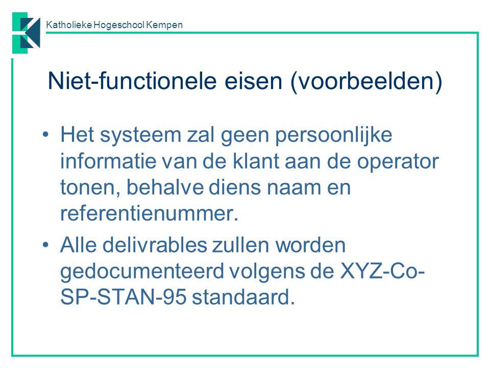 Niet-functionele eisen (voorbeelden)