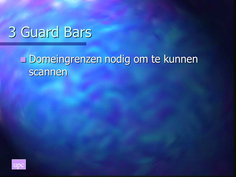 3 Guard Bars Domeingrenzen nodig om te kunnen scannen upc