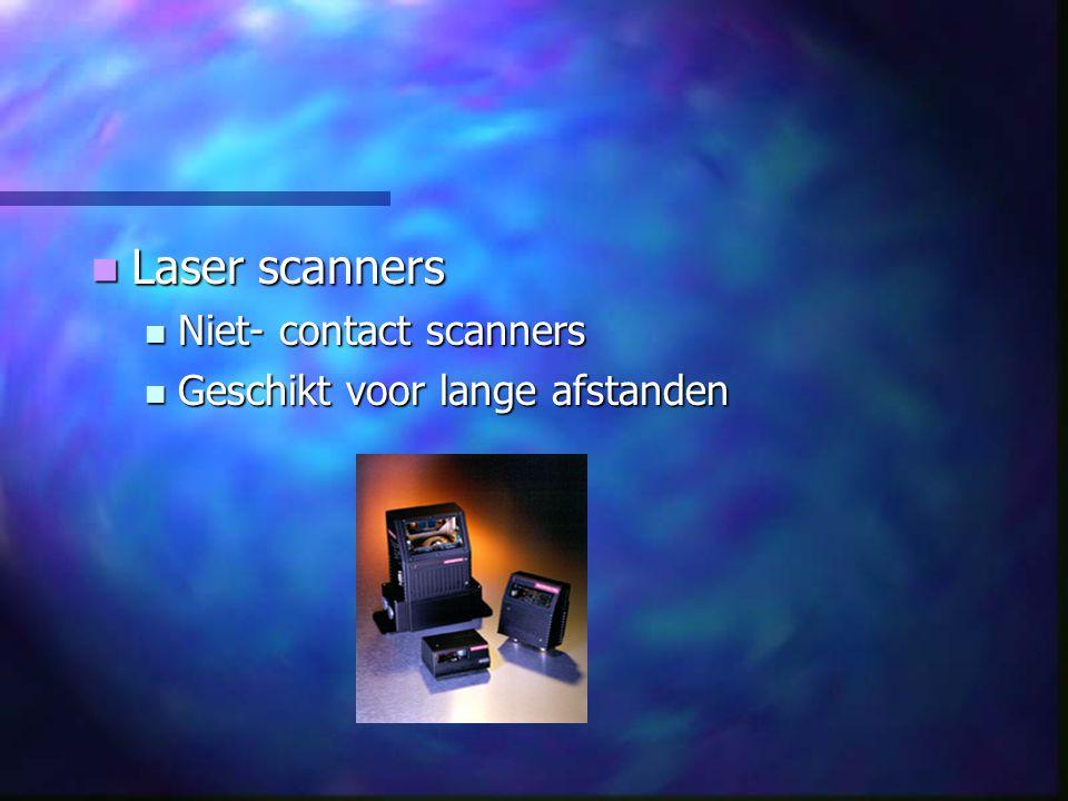 Laser scanners Niet- contact scanners Geschikt voor lange afstanden