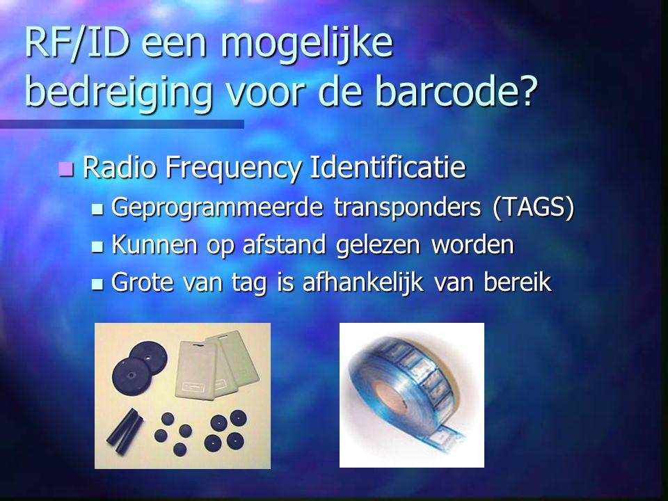RF/ID een mogelijke bedreiging voor de barcode