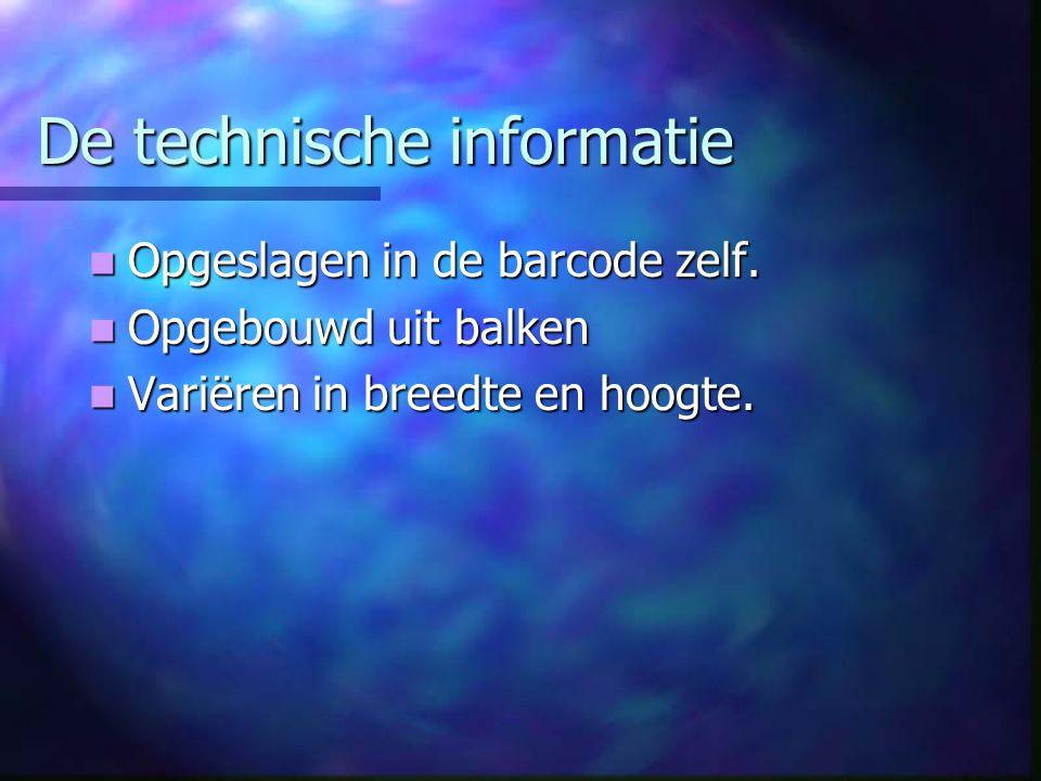 De technische informatie