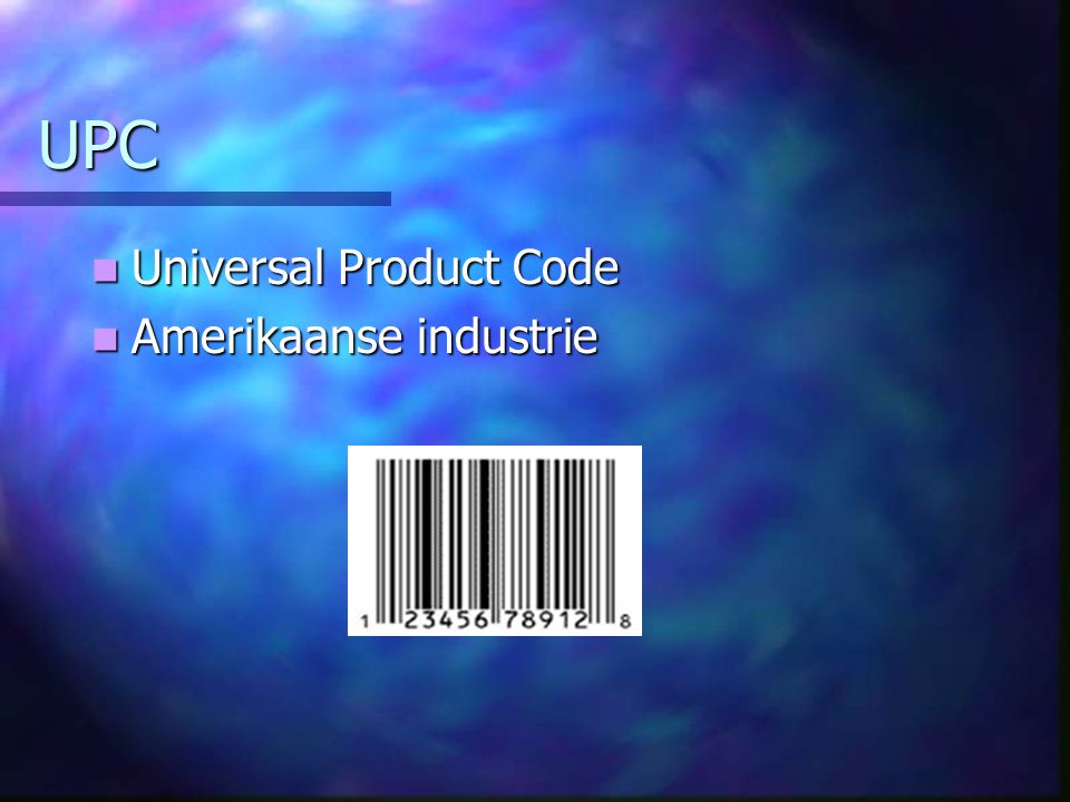UPC Universal Product Code Amerikaanse industrie