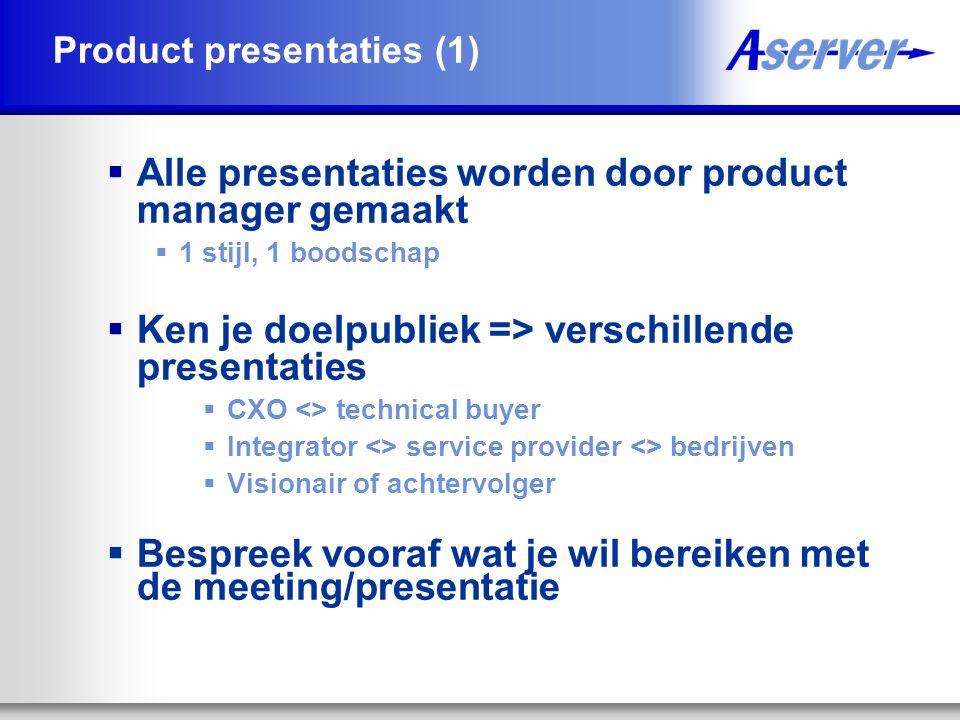 Product presentaties (1)