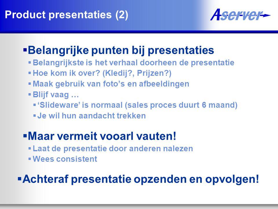 Product presentaties (2)