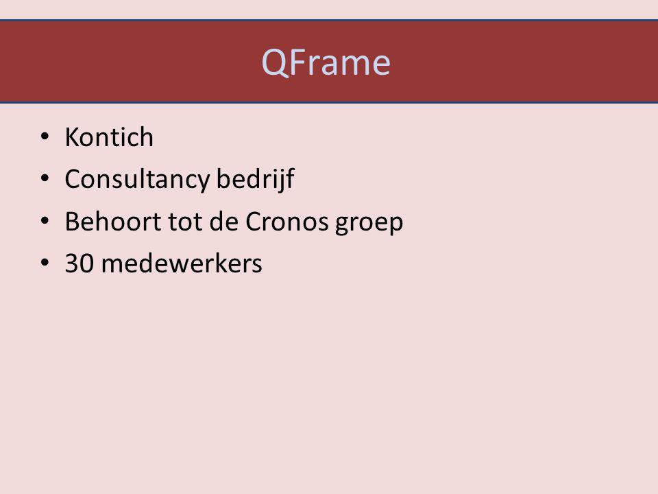 QFrame Kontich Consultancy bedrijf Behoort tot de Cronos groep