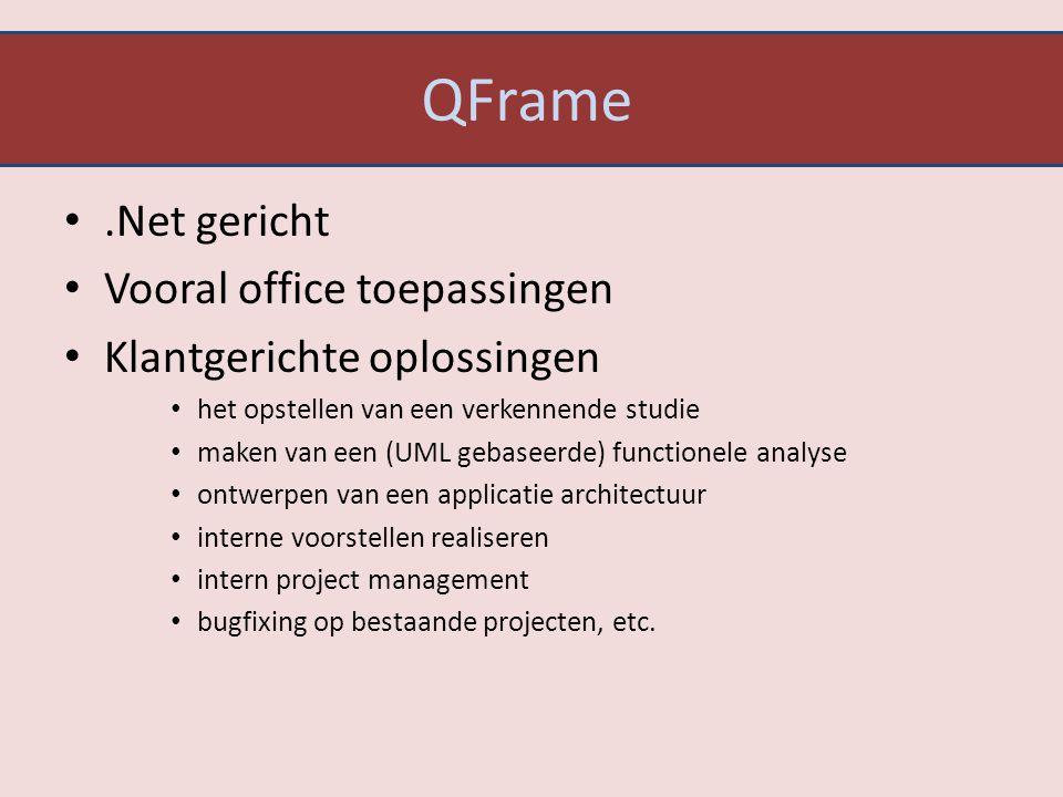 QFrame .Net gericht Vooral office toepassingen