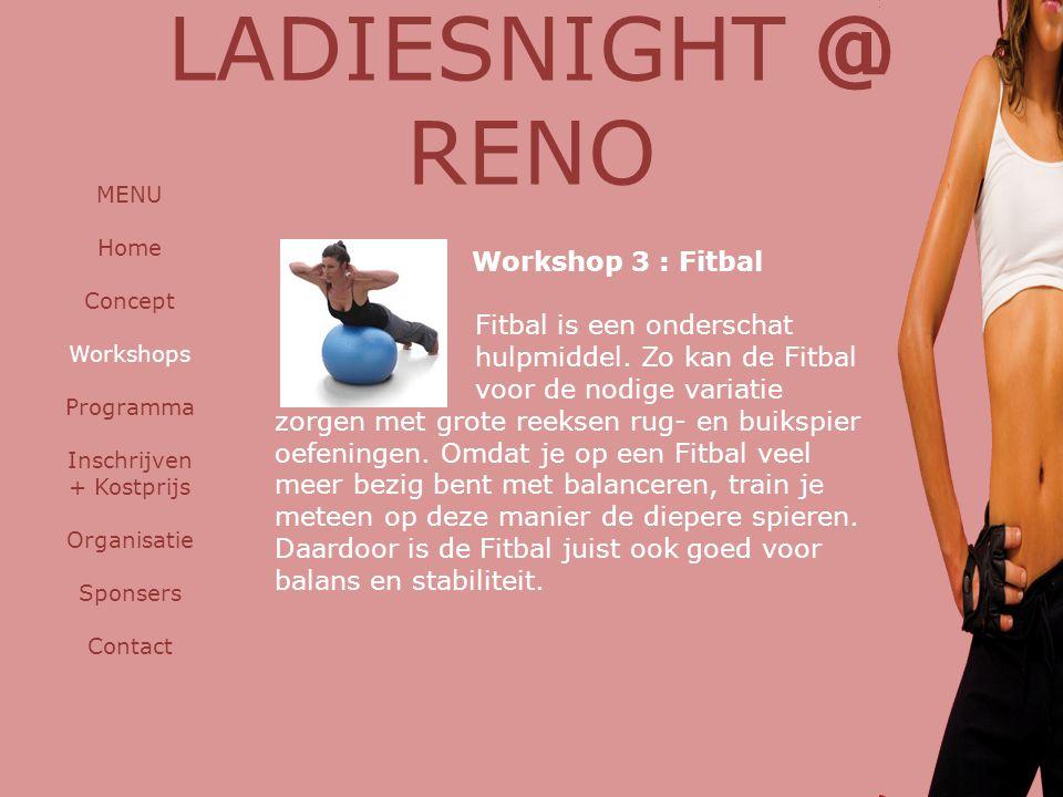 LADIESNIGHT @ RENO Workshop 3 : Fitbal