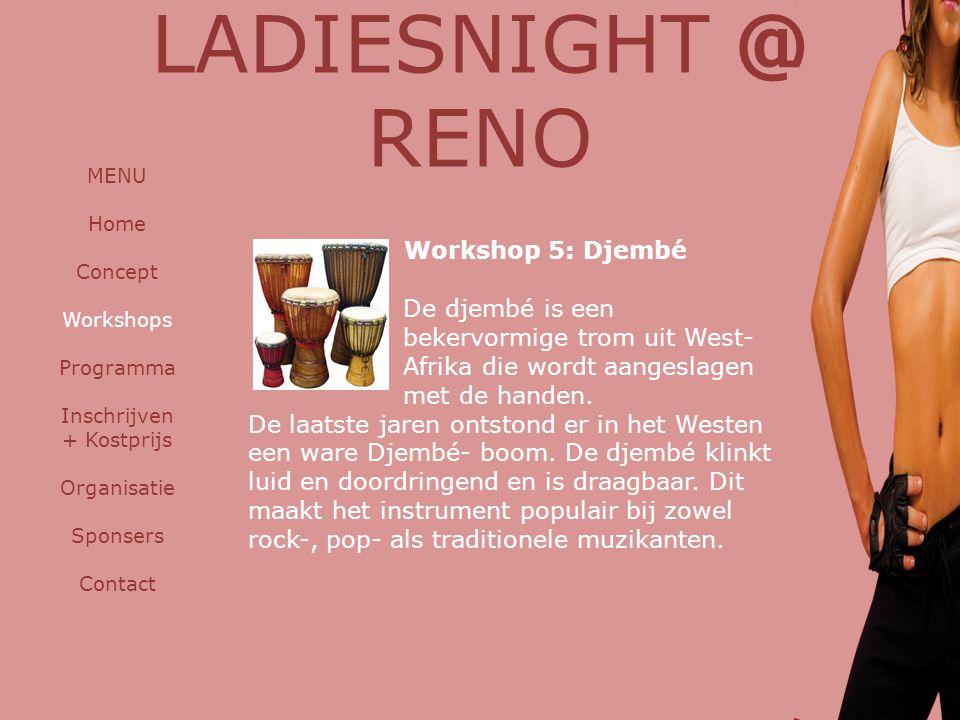 LADIESNIGHT @ RENO Workshop 5: Djembé