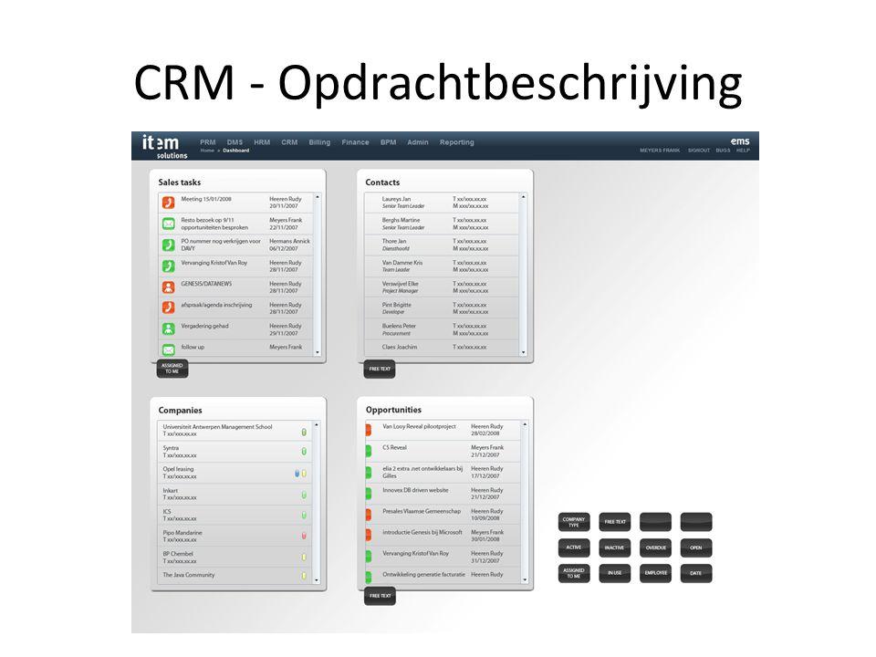 CRM - Opdrachtbeschrijving