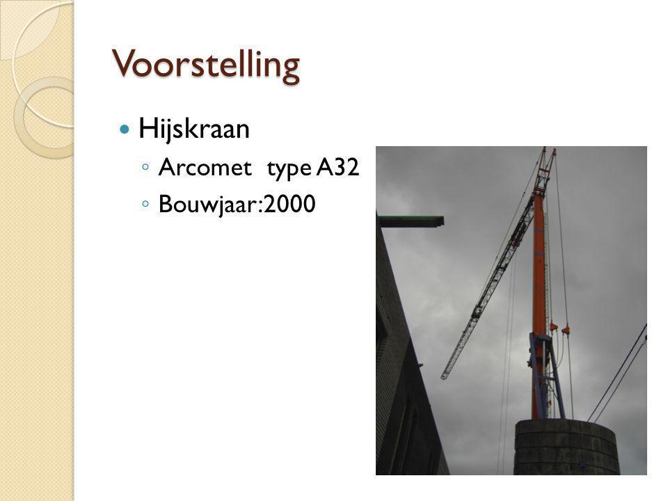Voorstelling Hijskraan Arcomet type A32 Bouwjaar:2000
