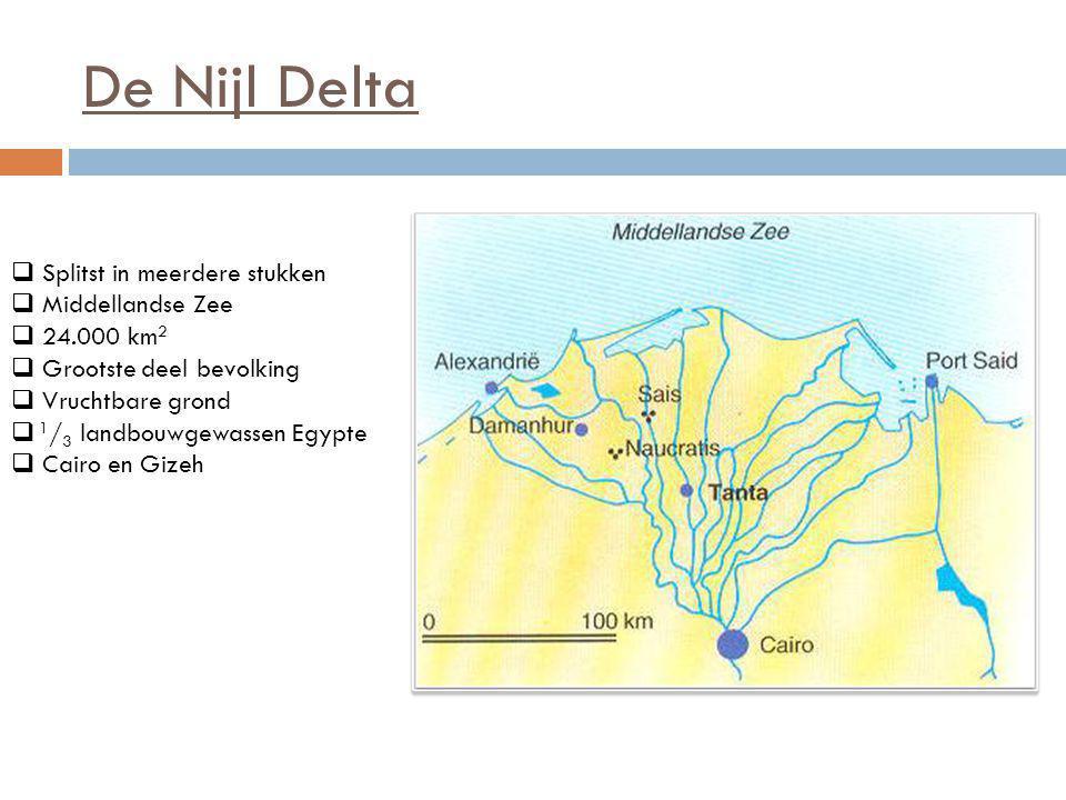 De Nijl Delta Splitst in meerdere stukken Middellandse Zee 24.000 km2