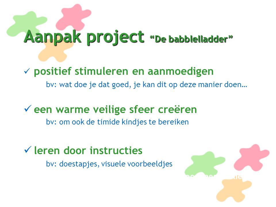 Aanpak project De babblelladder