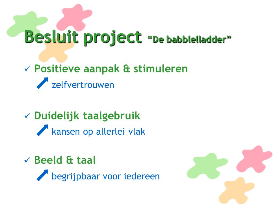 Besluit project De babblelladder