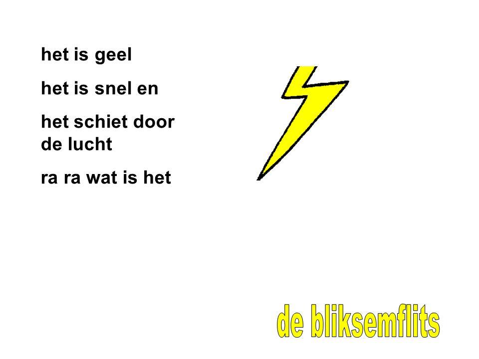 de bliksemflits het is geel het is snel en het schiet door de lucht
