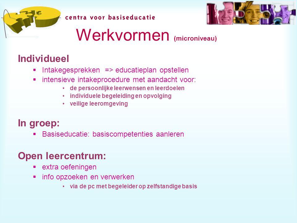 Werkvormen (microniveau)