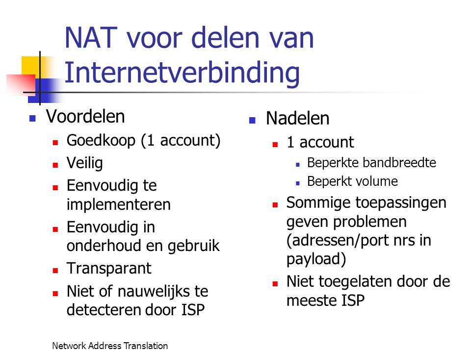 NAT voor delen van Internetverbinding