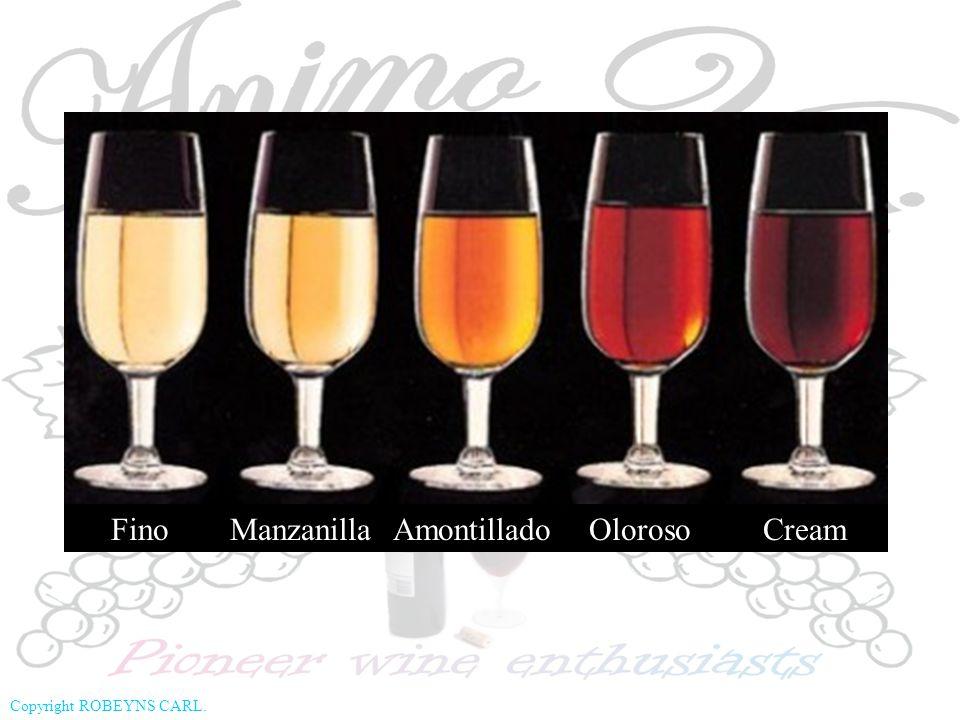 Fino Manzanilla Amontillado Oloroso Cream
