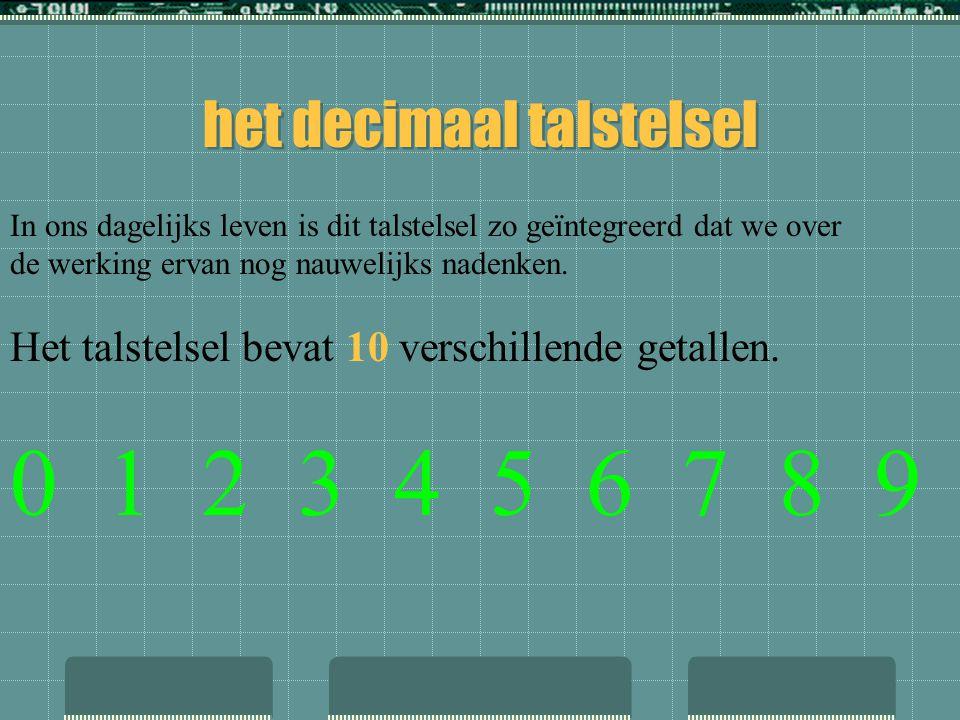 het decimaal talstelsel