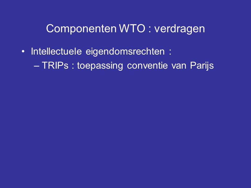 Componenten WTO : verdragen