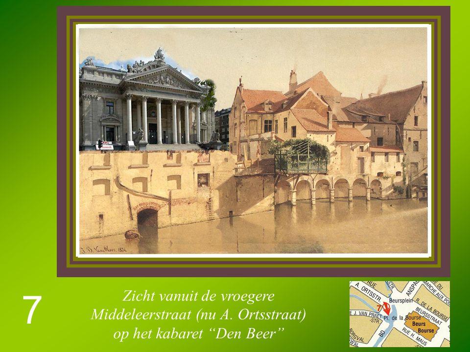 7 Zicht vanuit de vroegere Middeleerstraat (nu A. Ortsstraat) op het kabaret Den Beer