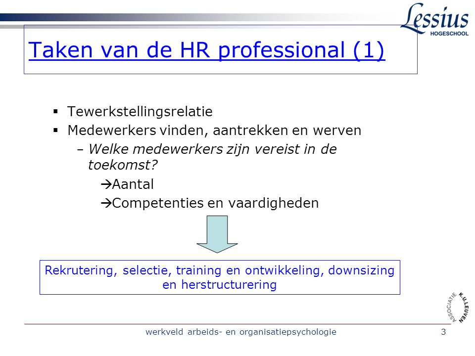 Taken van de HR professional (1)