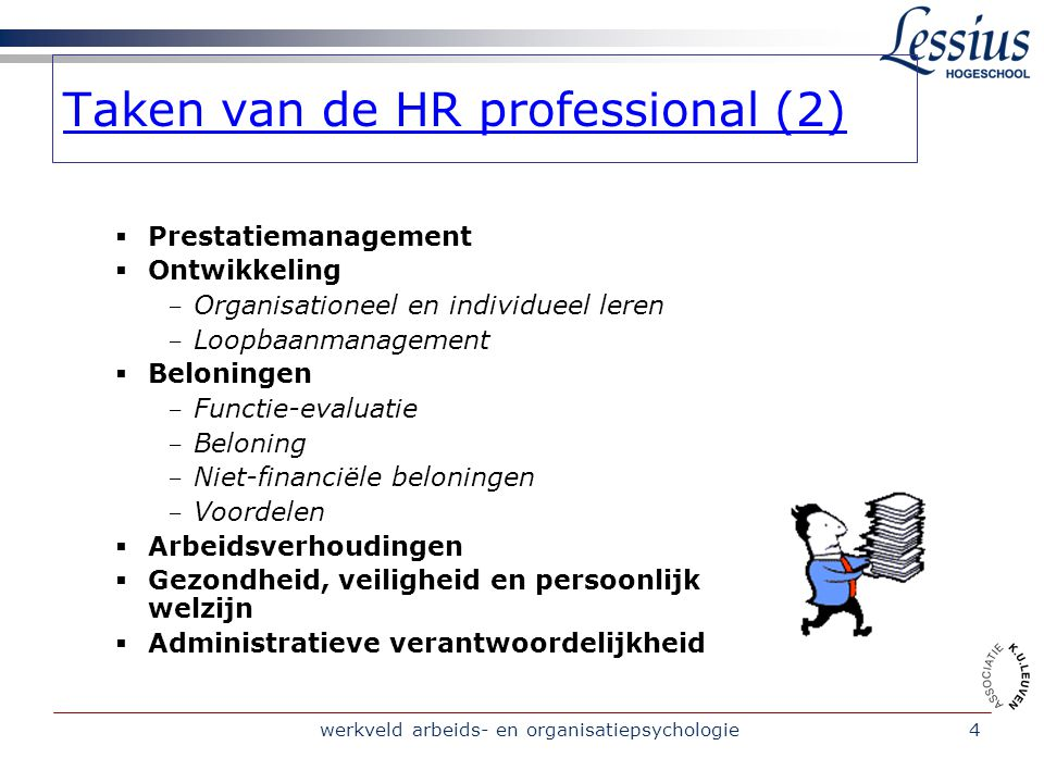 Taken van de HR professional (2)