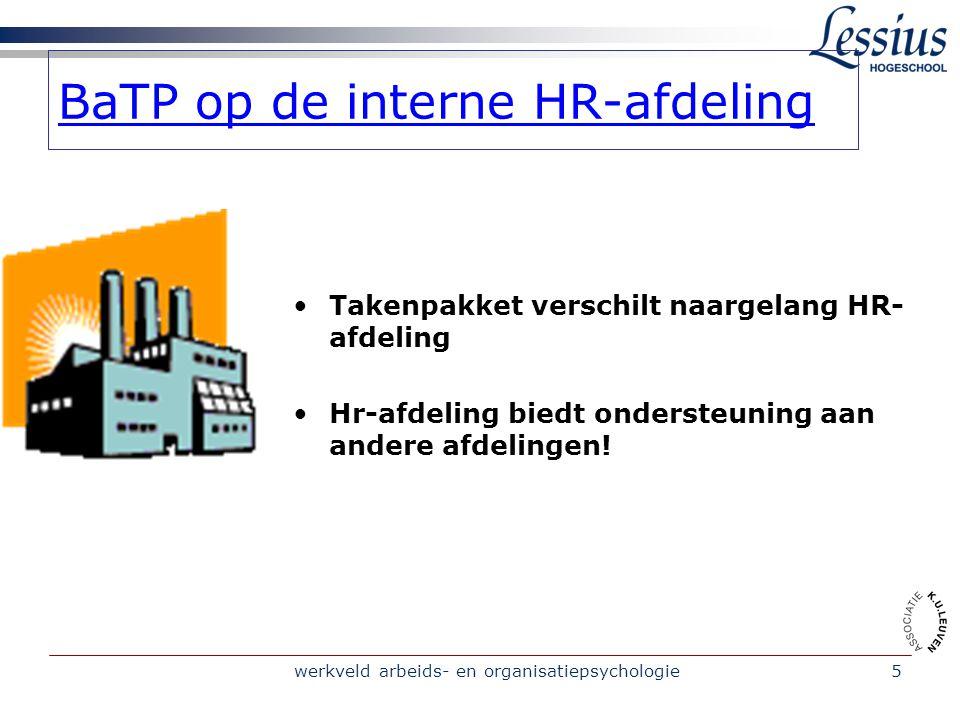 BaTP op de interne HR-afdeling