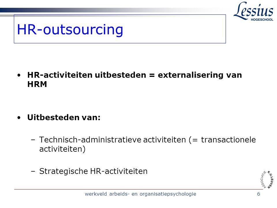 werkveld arbeids- en organisatiepsychologie