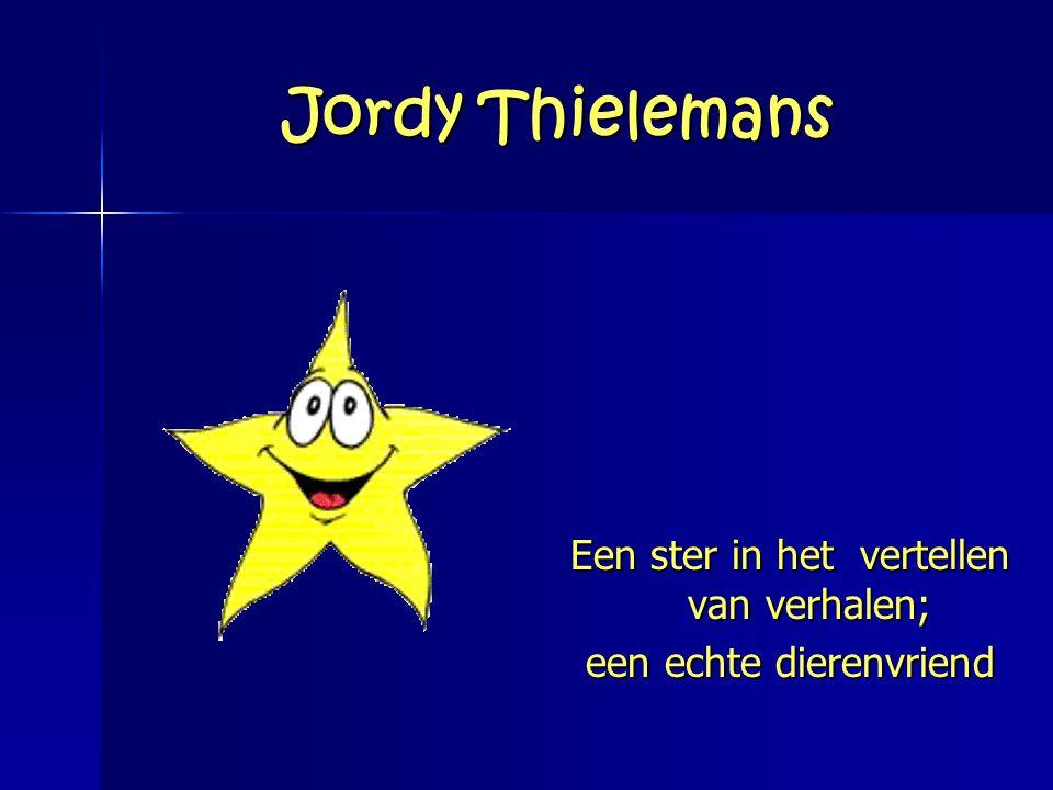 Jordy Thielemans Een ster in het vertellen van verhalen;