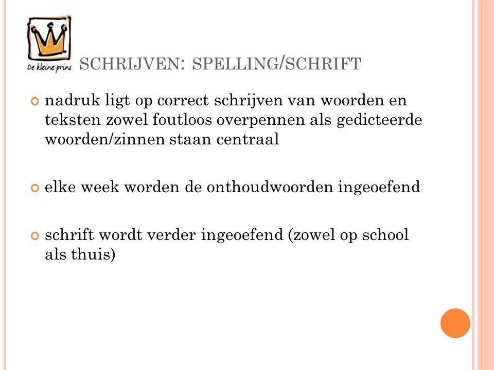 schrijven: spelling/schrift