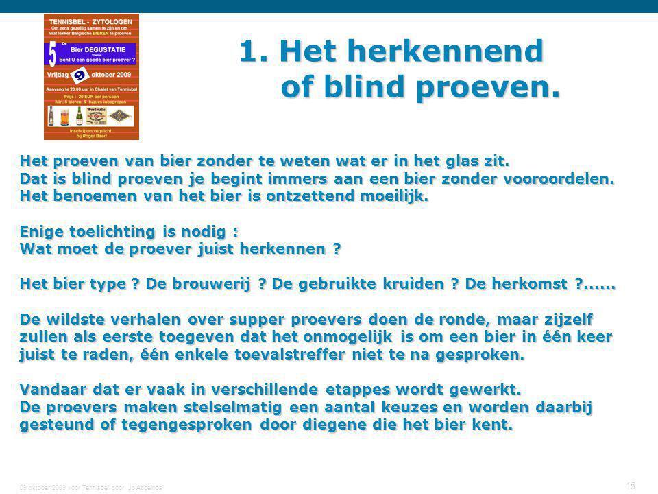 1. Het herkennend of blind proeven.