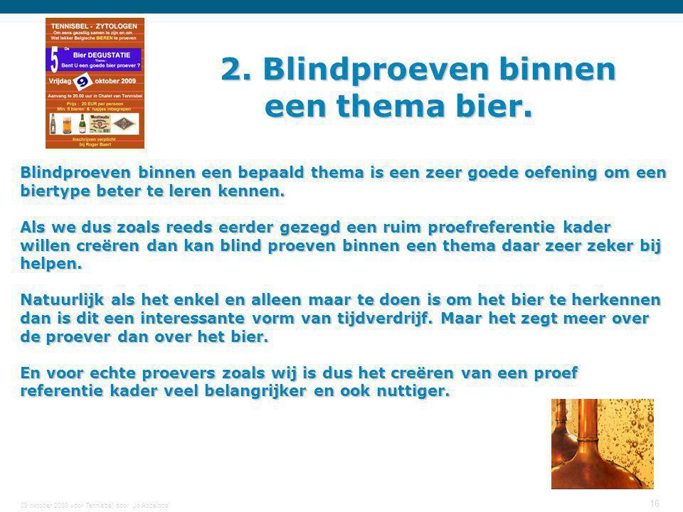 2. Blindproeven binnen een thema bier.