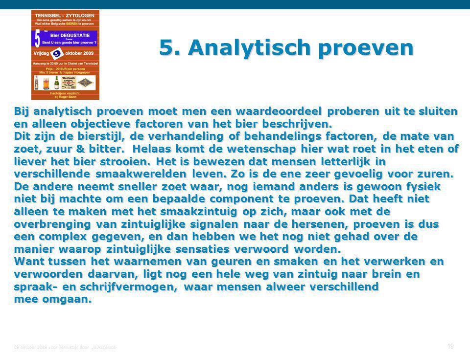 5. Analytisch proeven