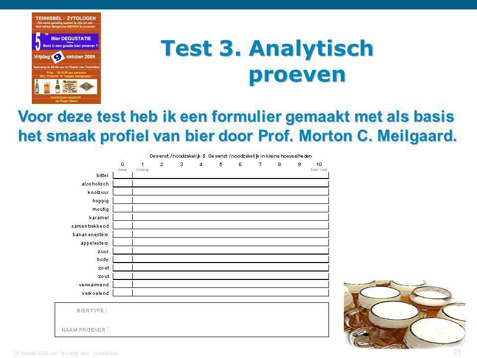 Test 3. Analytisch proeven