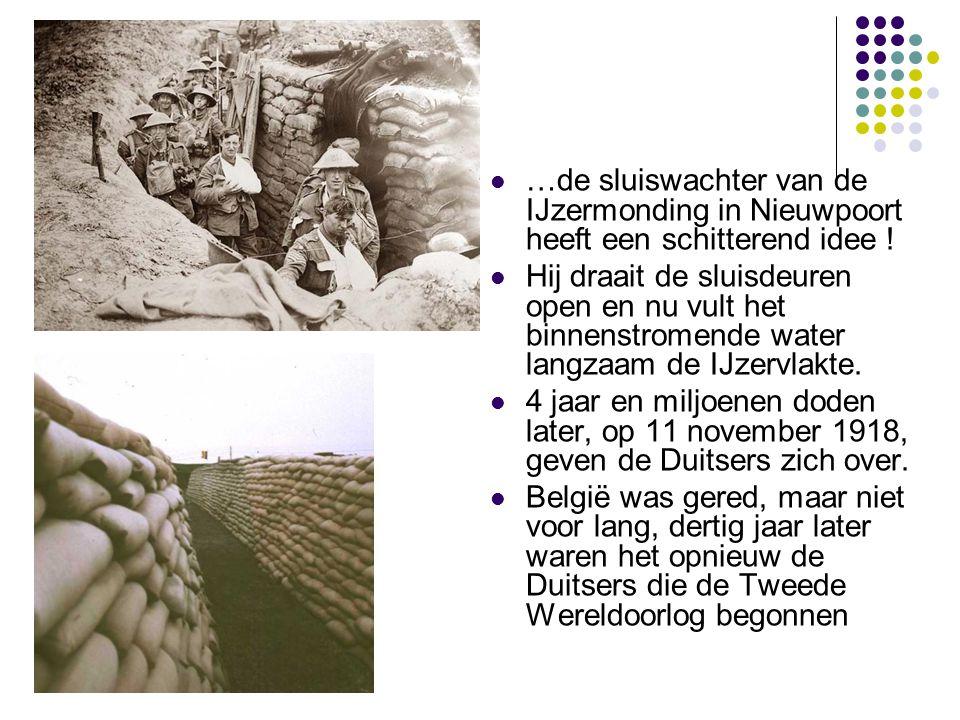 …de sluiswachter van de IJzermonding in Nieuwpoort heeft een schitterend idee !