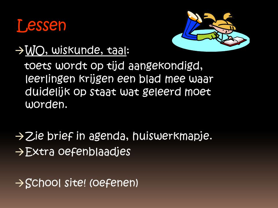 Lessen WO, wiskunde, taal: