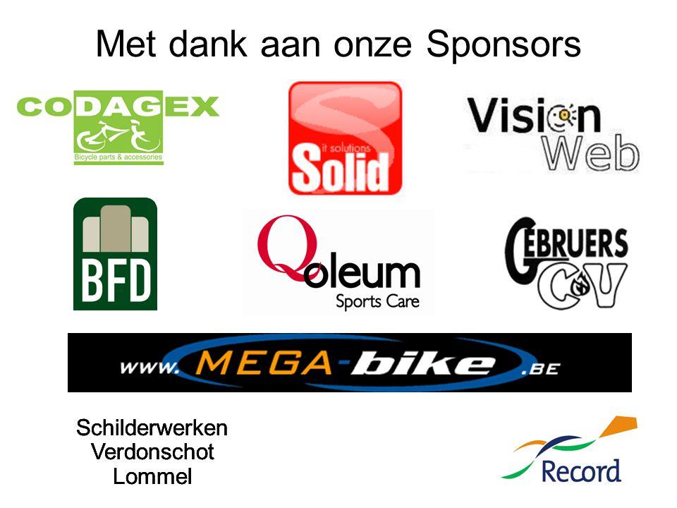 Met dank aan onze Sponsors