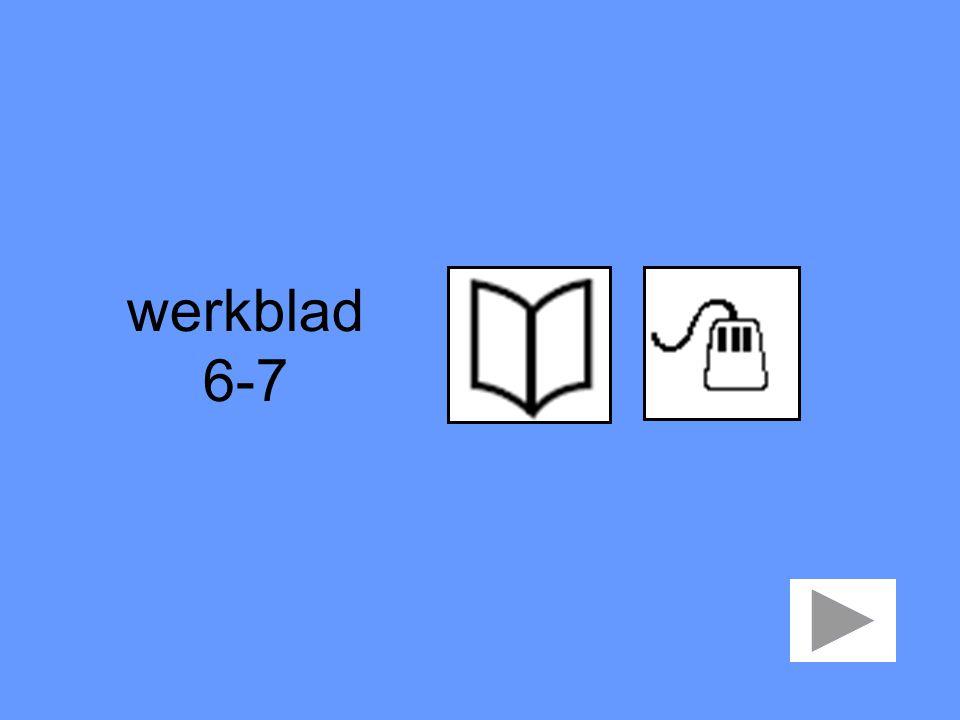 werkblad 6-7